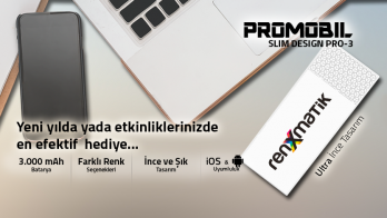 3000 MAH SLIM DESIGN (PRO-3 SERİSİ) MODEL POWERBANK